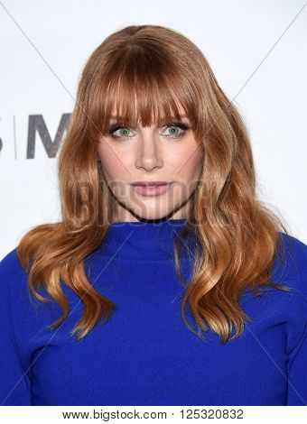 LOS ANGELES - APR 07:  Bryce Dallas Howard arrives to the Reel Stories, Real Lives  on April 07, 2016 in Hollywood, CA.