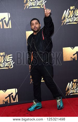LOS ANGELES - APR 09:  O'Shea Jackson Jr. arrives to the Mtv Movie Awards 2016  on April 09, 2016 in Hollywood, CA.