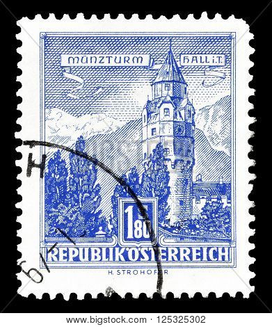 AUSTRIA - CIRCA 1960:  Cancelled postage stamp printed by Austria, that shows  The Mint in Tyrol.