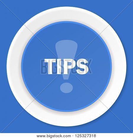 tips blue flat design modern web icon