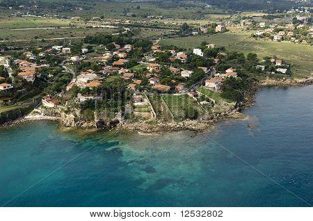 beautiful coast on the Blue Sea, siracusa, sicily, italy