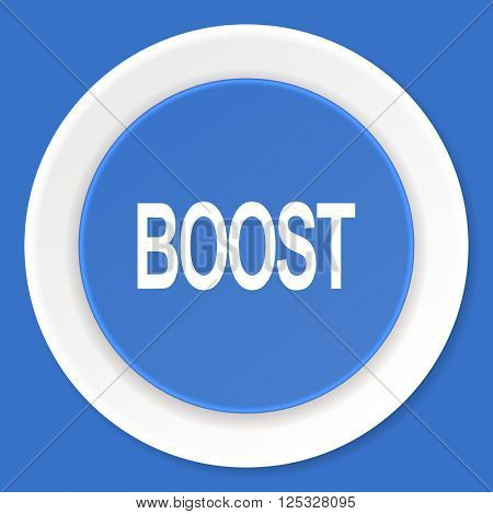 boost blue flat design modern web icon