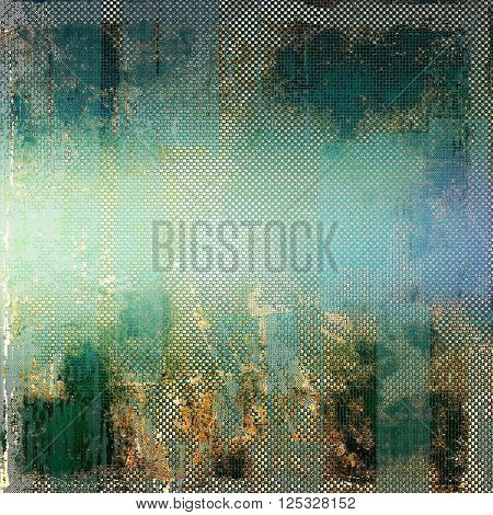 Closeup vintage texture, weathered grunge background. With different color patterns: yellow (beige); brown; green; blue; gray