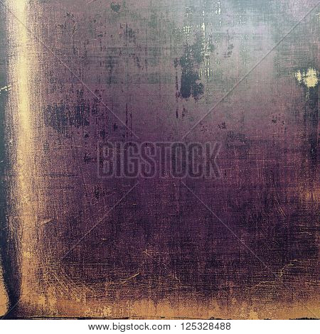 Vintage elegant background, creased grunge backdrop with aged texture and different color patterns: yellow (beige); brown; purple (violet); black; gray