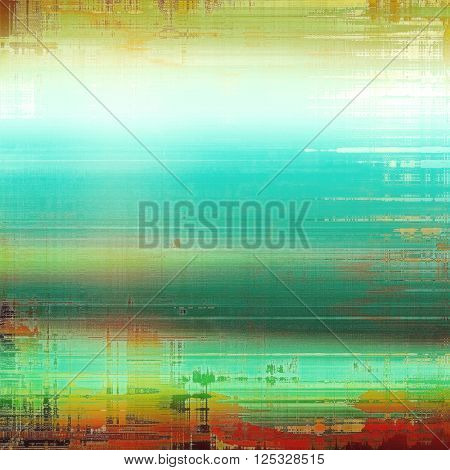 Veined grunge background or scratched texture with vintage feeling and different color patterns: yellow (beige); green; blue; red (orange); white
