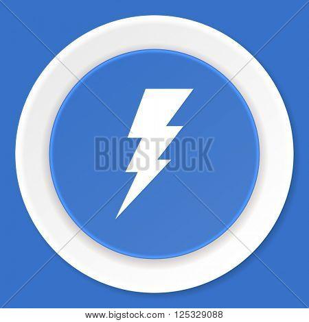 bolt blue flat design modern web icon