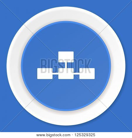 database blue flat design modern web icon