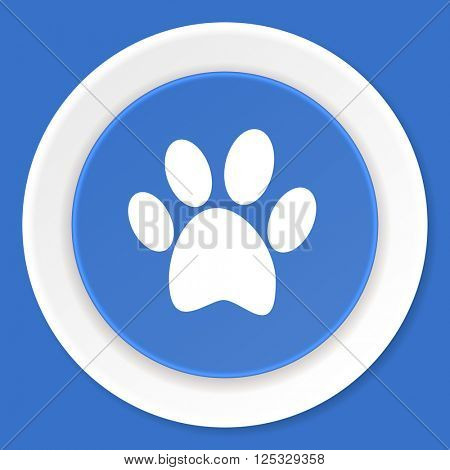 foot blue flat design modern web icon