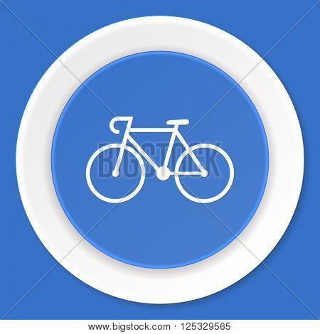 bicycle blue flat design modern web icon