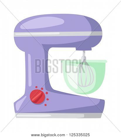 Apparatus for cooking soup kitchen blender electric appliance equipment flat vector.