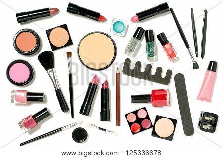 A Set Of Laid Flat Askewed Beauty Cosmetics