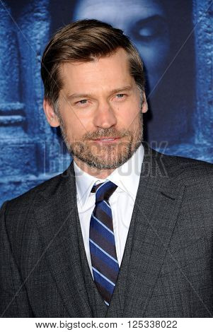 Nikolaj Coster-Waldau at the season 6 premiere of HBO's 'Game Of Thrones' held at the TCL Chinese Theatre in Hollywood, USA on April 10, 2016.