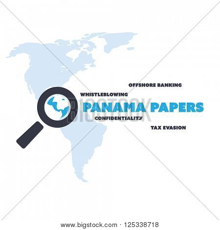 Panama Papers Concept Design - Tax Evasion and Offshore Banking - Investigation and Data Leaks