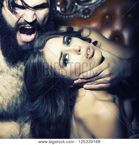 Woman And Shouting Man
