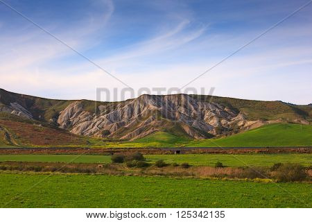 View of inland Sicily hills in the spring season ** Note: Visible grain at 100%, best at smaller sizes