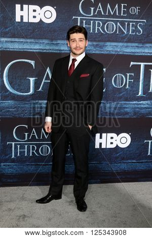 LOS ANGELES - APR 10:  Daniel Portman at the Game of Thrones Season 6 Premiere Screening at the TCL Chinese Theater IMAX on April 10, 2016 in Los Angeles, CA