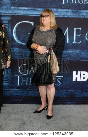 LOS ANGELES - APR 10:  Colleen Camp at the Game of Thrones Season 6 Premiere Screening at the TCL Chinese Theater IMAX on April 10, 2016 in Los Angeles, CA