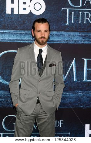 LOS ANGELES - APR 10:  Gethin Anthony at the Game of Thrones Season 6 Premiere Screening at the TCL Chinese Theater IMAX on April 10, 2016 in Los Angeles, CA