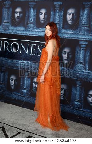 LOS ANGELES - APR 10:  Hannah Murray at the Game of Thrones Season 6 Premiere Screening at the TCL Chinese Theater IMAX on April 10, 2016 in Los Angeles, CA
