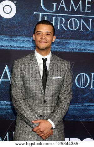 LOS ANGELES - APR 10:  Jacob Anderson at the Game of Thrones Season 6 Premiere Screening at the TCL Chinese Theater IMAX on April 10, 2016 in Los Angeles, CA