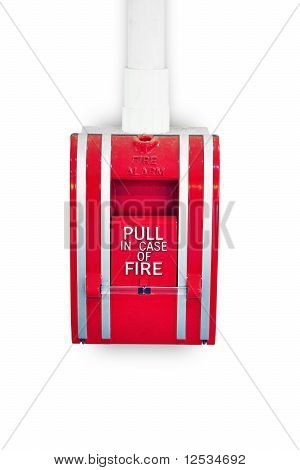 Red fire alarm lever