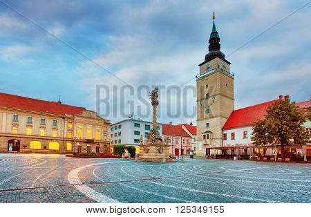 Trnava city Slovakia at a nigth, nobody.
