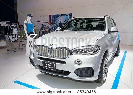 BANGKOK - MARCH 22: BMW X5 xDrive 40e car on display at The 37 th Thailand Bangkok International Motor Show on March 22 2016 in Bangkok Thailand.