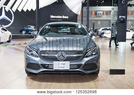 BANGKOK - MARCH 22: Mercedes Benz SC 200 Coupe car on display at The 37 th Thailand Bangkok International Motor Show on March 22 2016 in Bangkok Thailand.