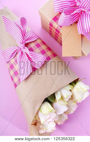 Mothers Day Gift And Flowers.