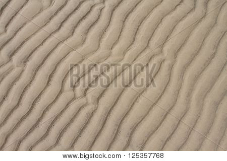 Close Up Of Sand Pattern Of A Beach In The Summer