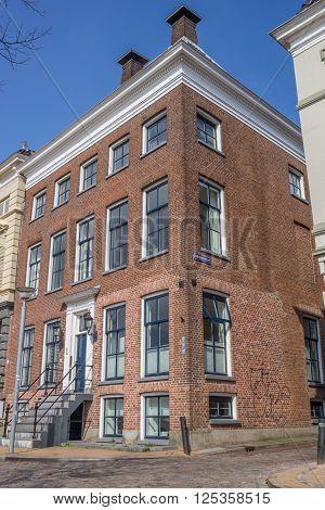 GRONINGEN, NETHERLANDS - APRIL 9, 2016: Old house in the center of Groningen, Holland