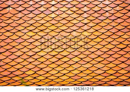 red old Clay tile roof texture abstract background