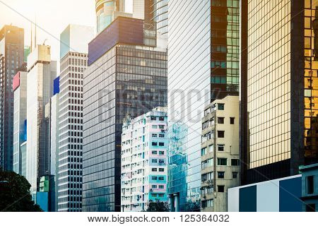 hongkong downtown city