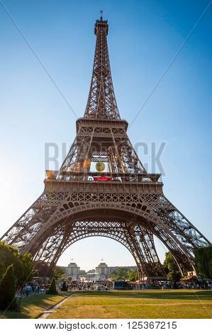 Eiffel Tower With Park Around, Paris