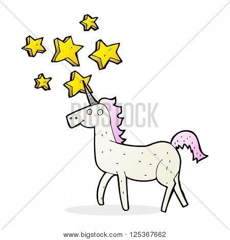 cartoon magical unicorn