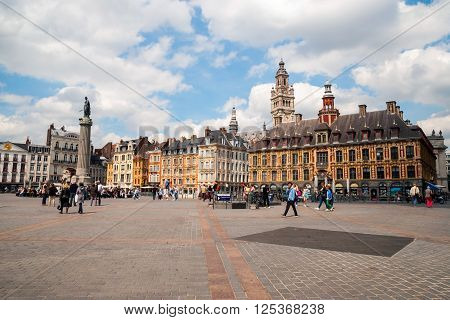 Central Town Square In Lille, France