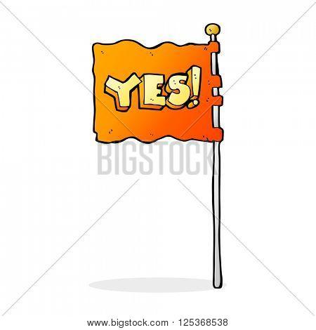 cartoon yes flag