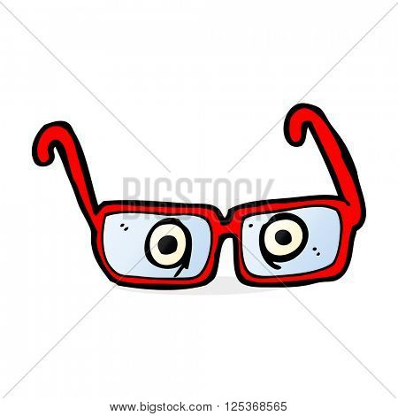 cartoon eyes in spectacles