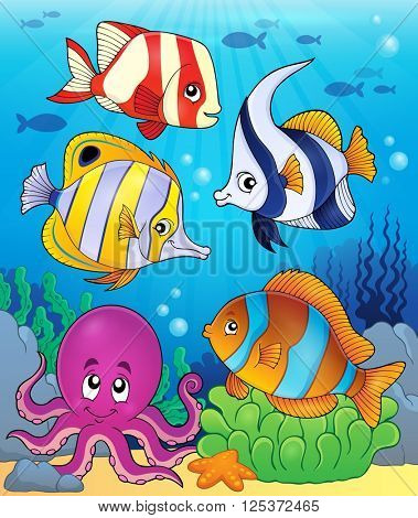 Coral fauna theme image 5 - eps10 vector illustration.
