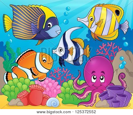 Coral fauna theme image 7 - eps10 vector illustration.