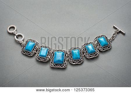 Little Bracelet With Six Turquise Stones