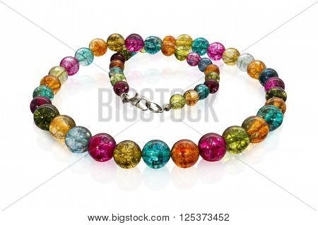 Close Up Of Necklace With Colorful Beads