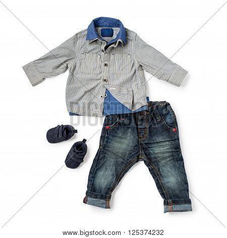 Child Clothing On White Background
