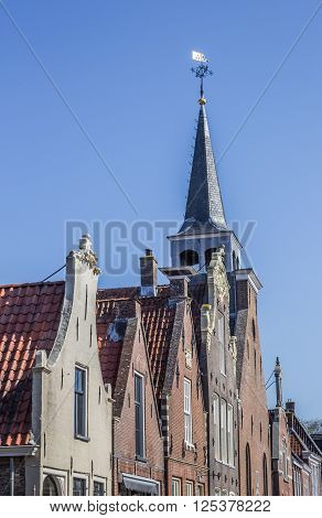 Facades of old houses in Balk Holland