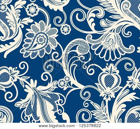 Lace design element. Seamless pattern.