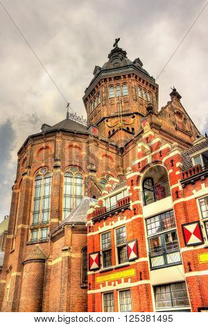Saint Nicholas Church in Amsterdam - Netherlands. It is the city's major Catholic church.