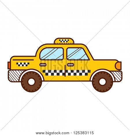 Taxi cab isolated on white background