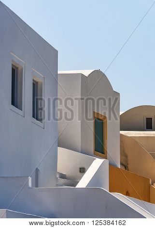 Traditional architecture of Oia on the greek island of Santorini.