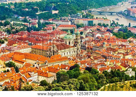 View of Mala Strana district in Prague, Czech Republic