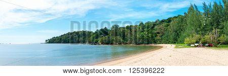Panorama Of A Pristine Tropical Beach